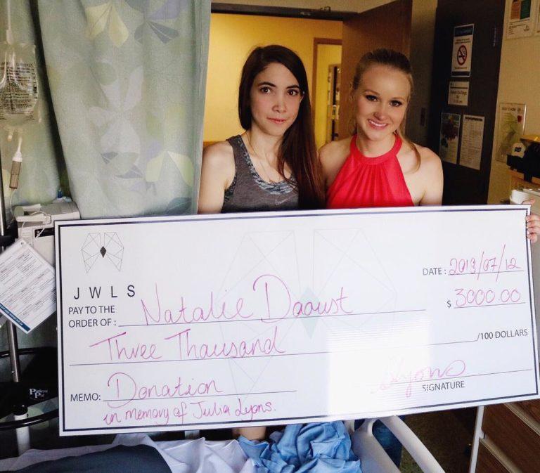 fundraising cheque